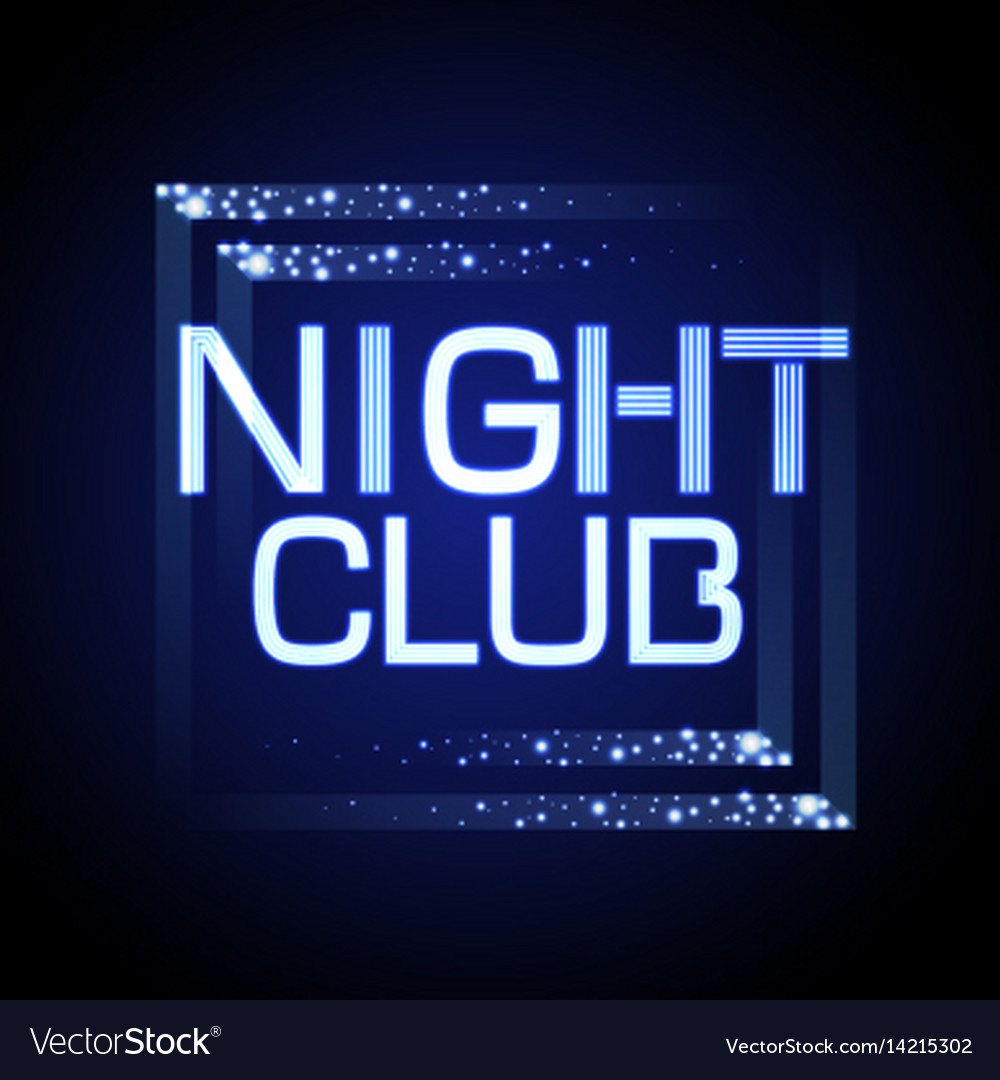 Neon sign nignt club