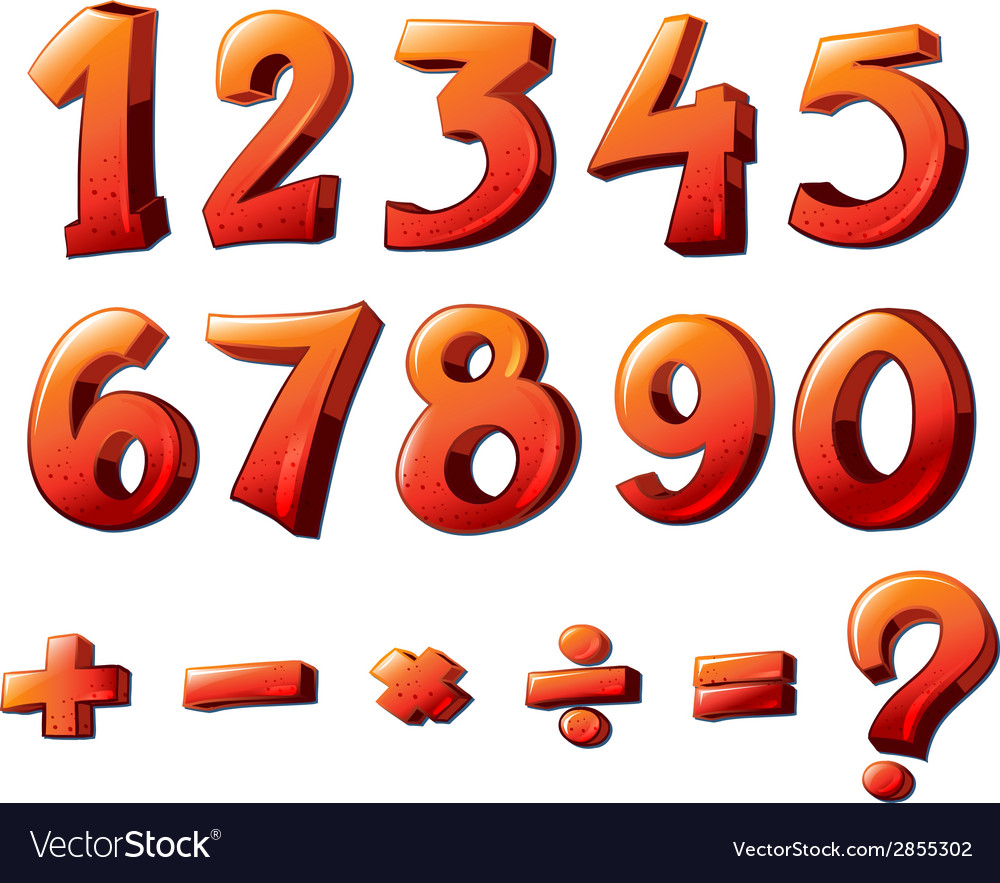 Numbers And Mathematical Symbols Royalty Free Vector Image
