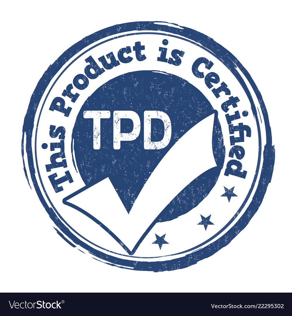 Tdp Sign Or Stamp Royalty Free Vector Image Vectorstock