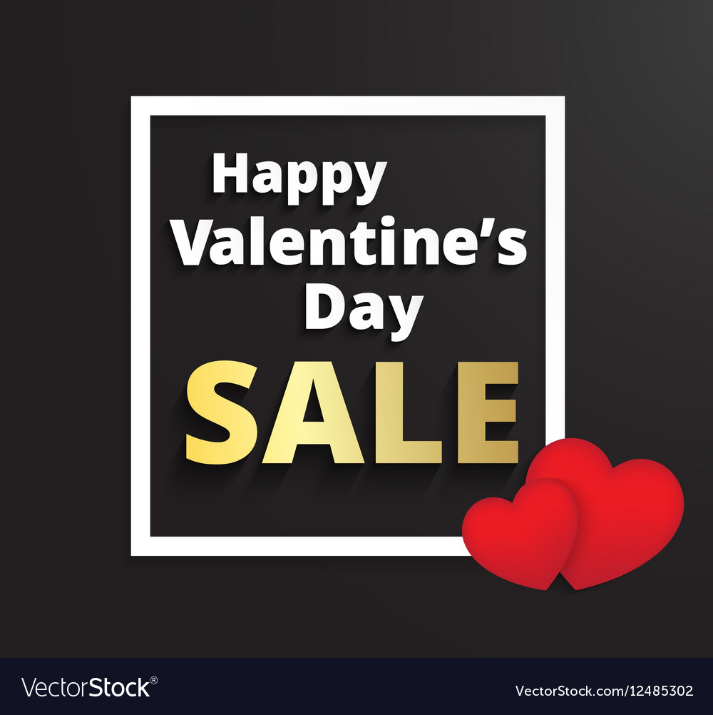 Valentines day promotion sale