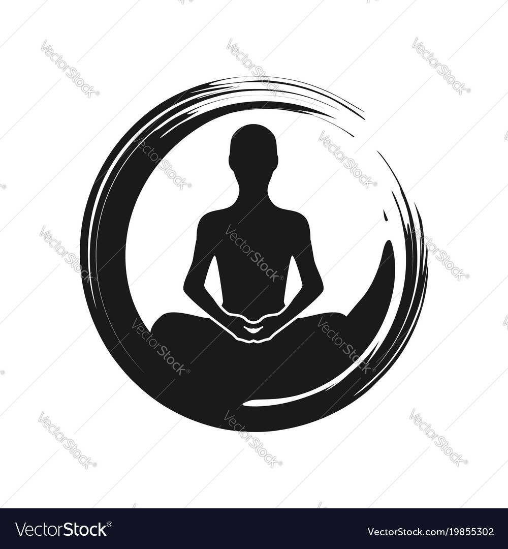 zen yoga meditation abstract symbol royalty free vector
