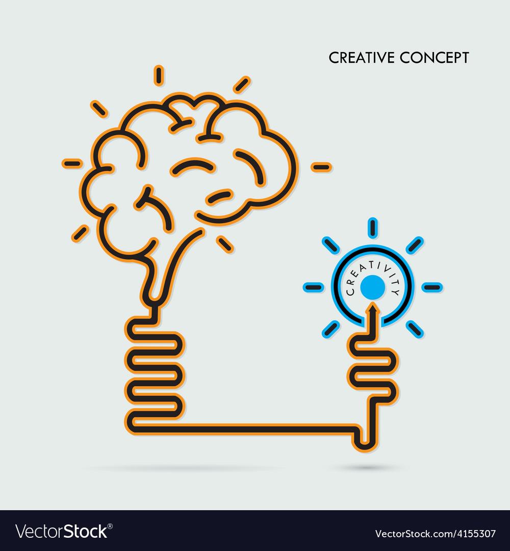 Creative brain Idea and light bulb concept