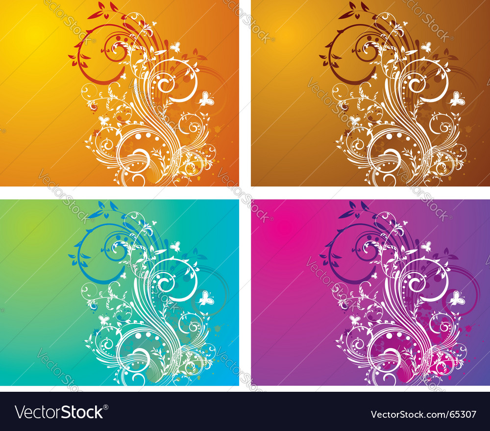 Floral swirl vector image