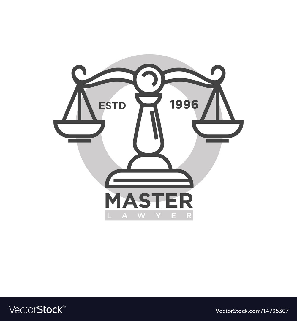 Master lawyer organization emblem with antique