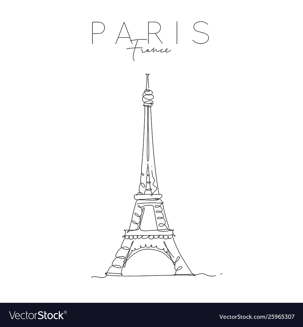Poster Paris Eiffel Tower Royalty Free Vector Image