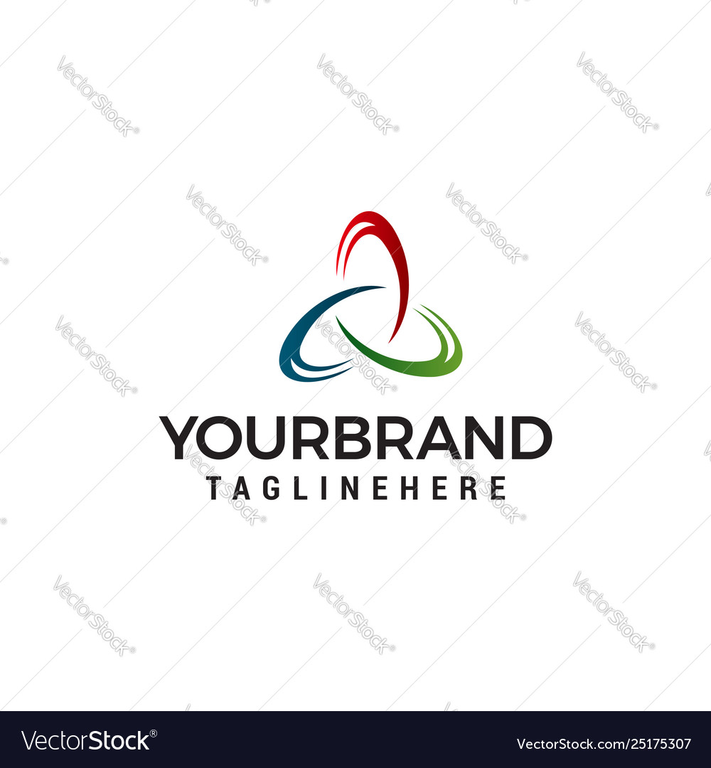Triangle logo business abstract design template