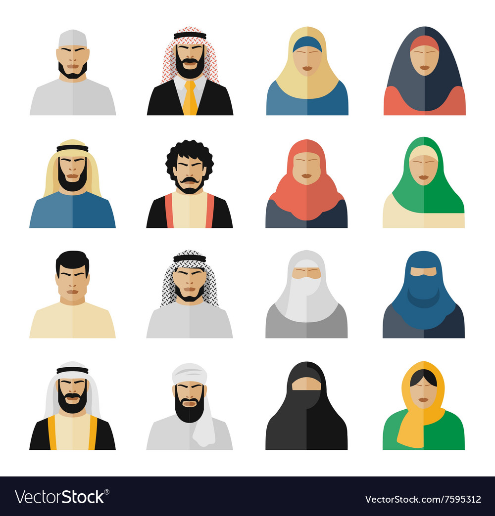 Arab people icons