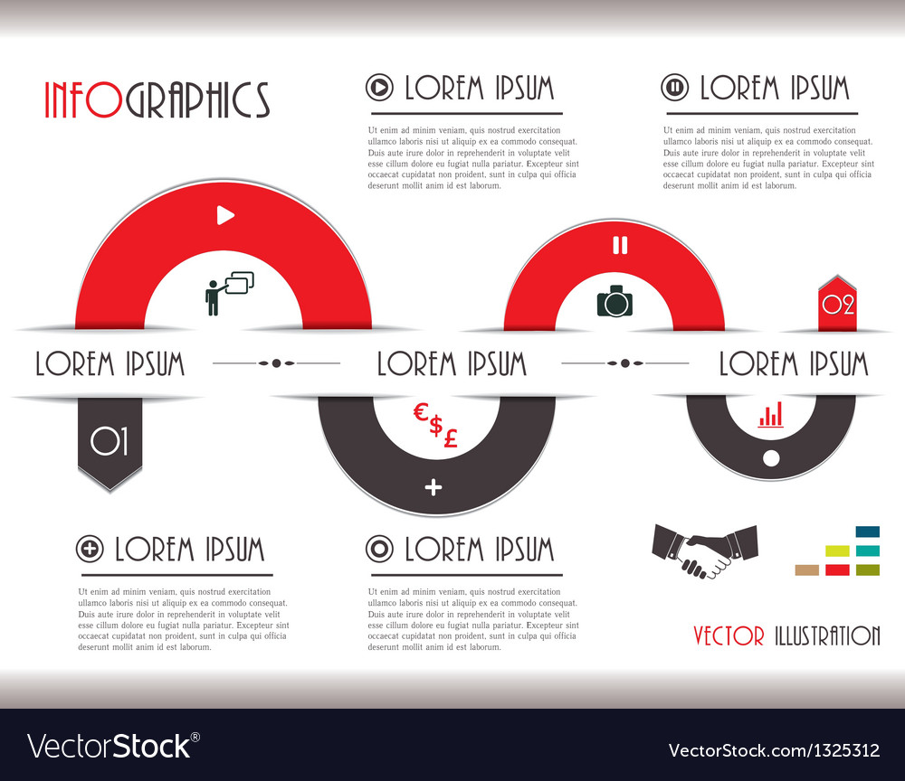 Business Communication Infographics vector image