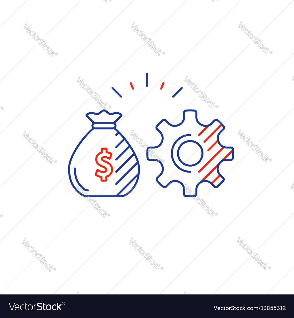 Business development innovation technology vector image