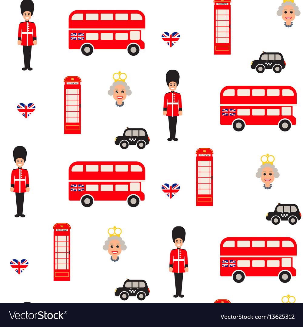 England symbols seamless pattern