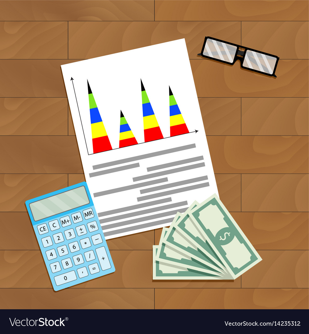 Finance infographic planning vector image