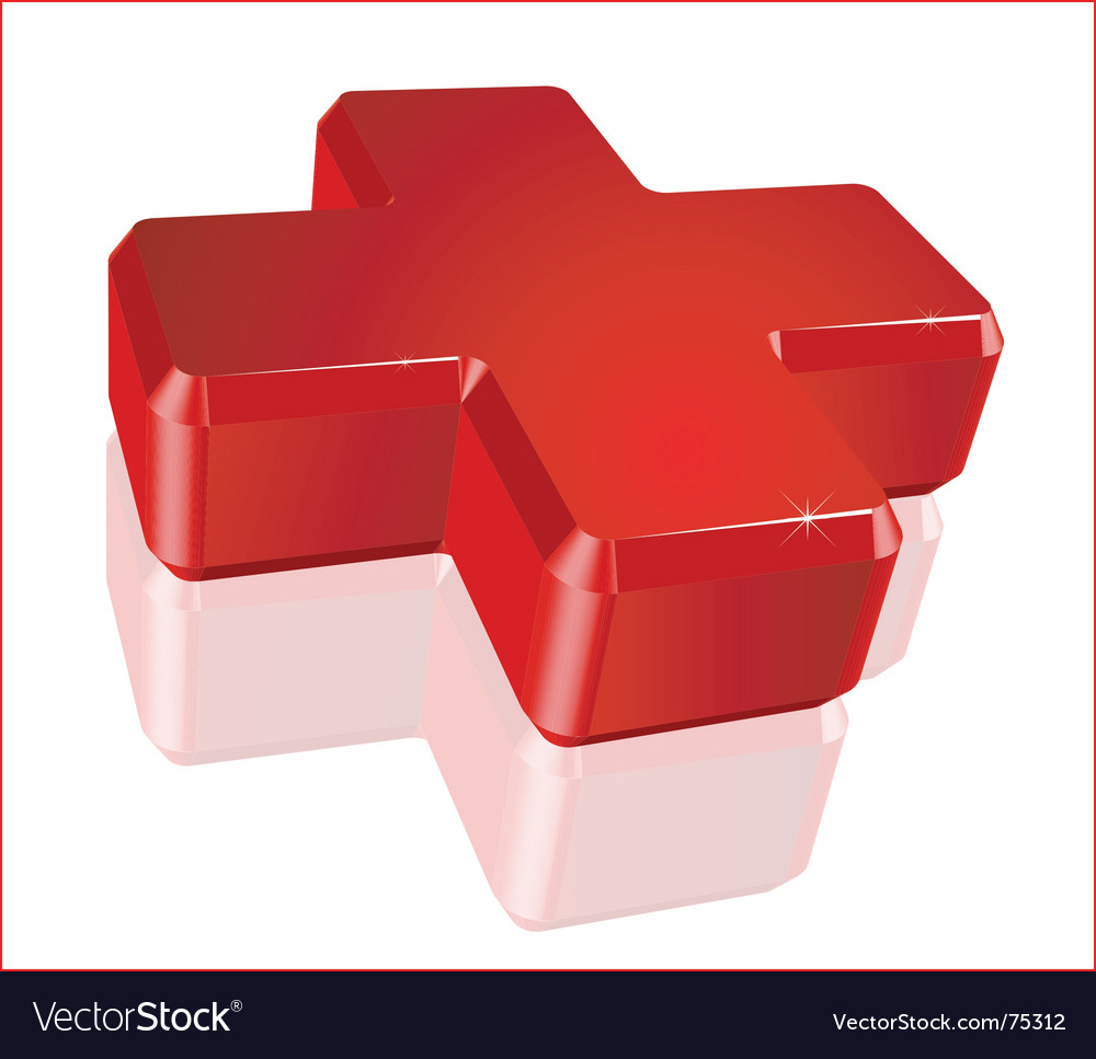 Medical red cross vector image