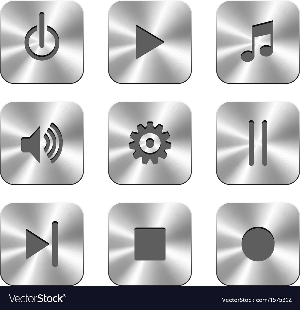 Metal buttons for media player