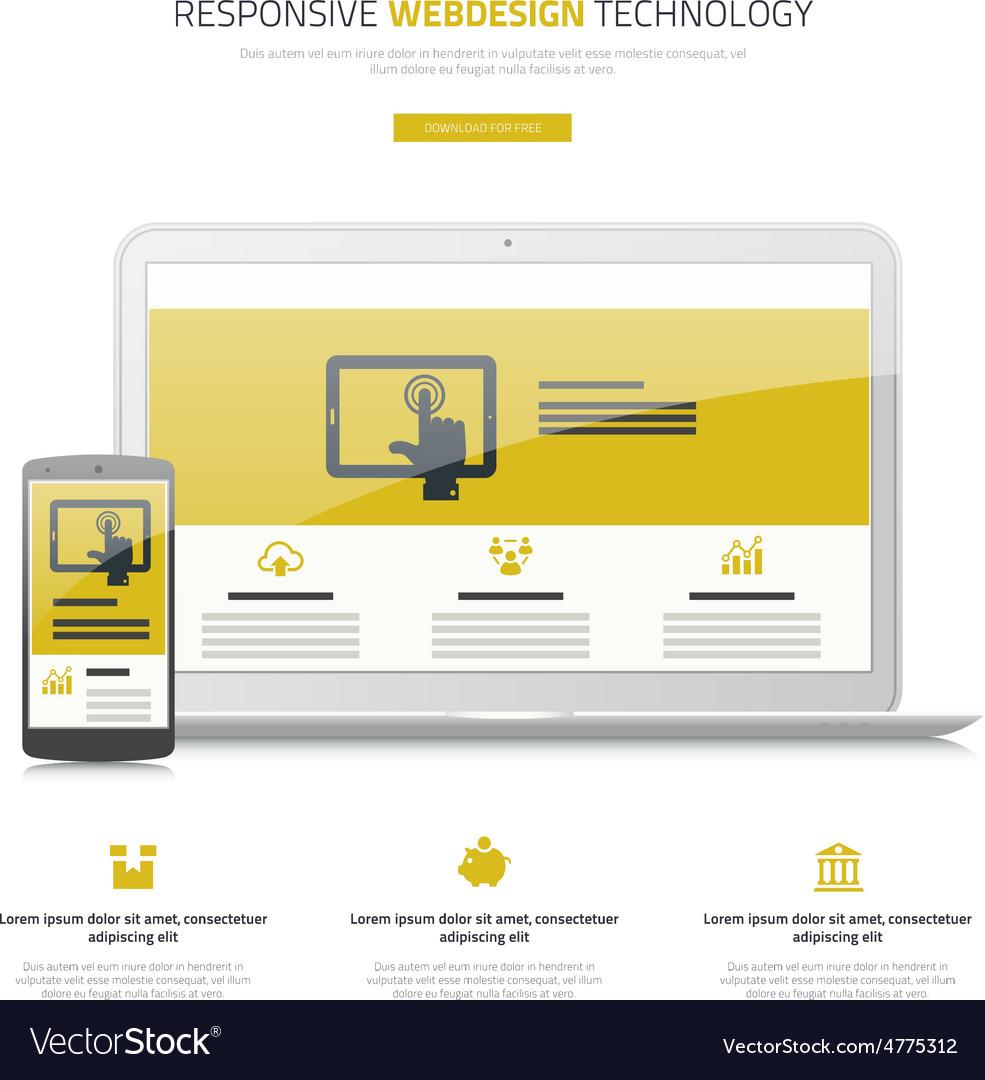 Responsive webdesign laptop and smartphone mock up