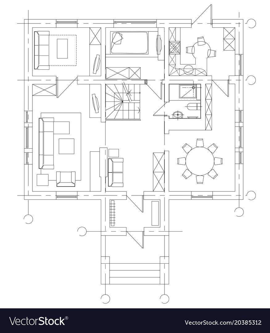 Standard Living Room Furniture Symbols Set Vector Image On Vectorstock
