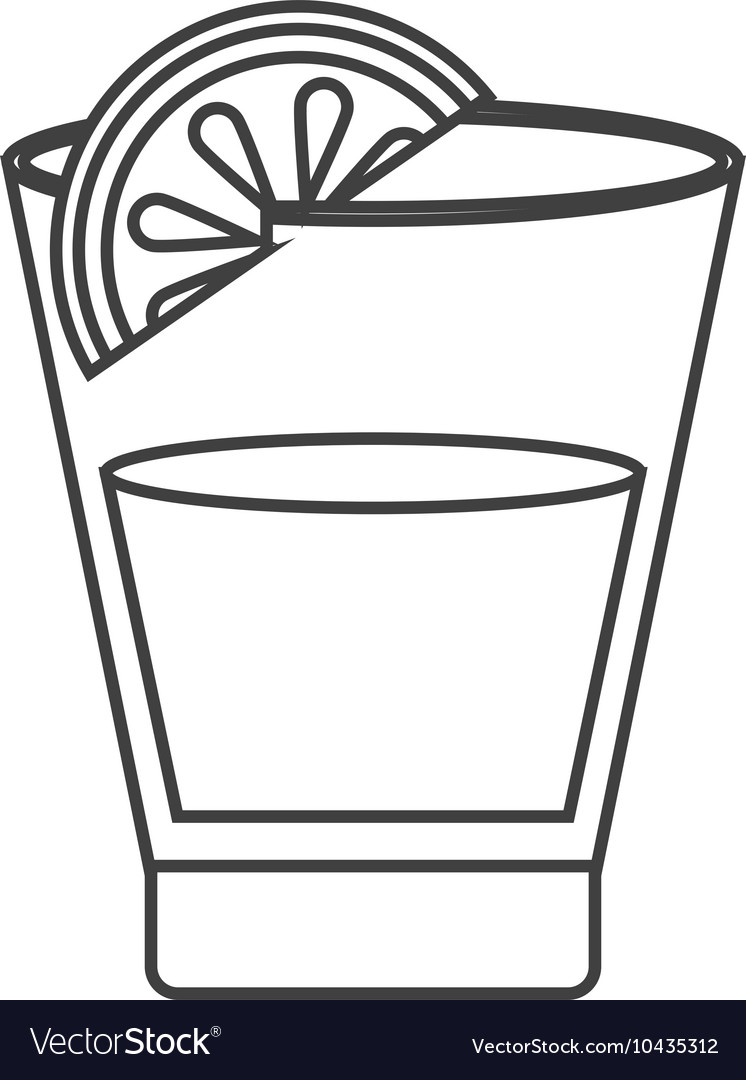Tequila shot and lime icon vector image