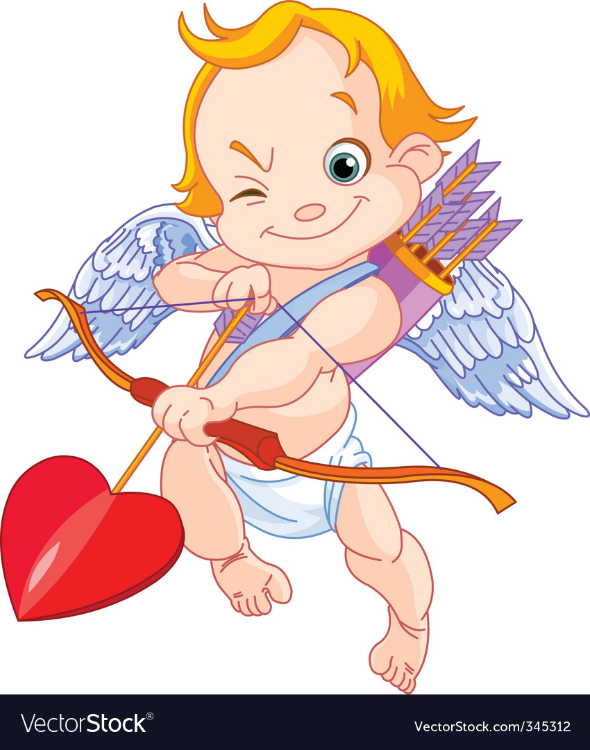Valentines cupid vector image