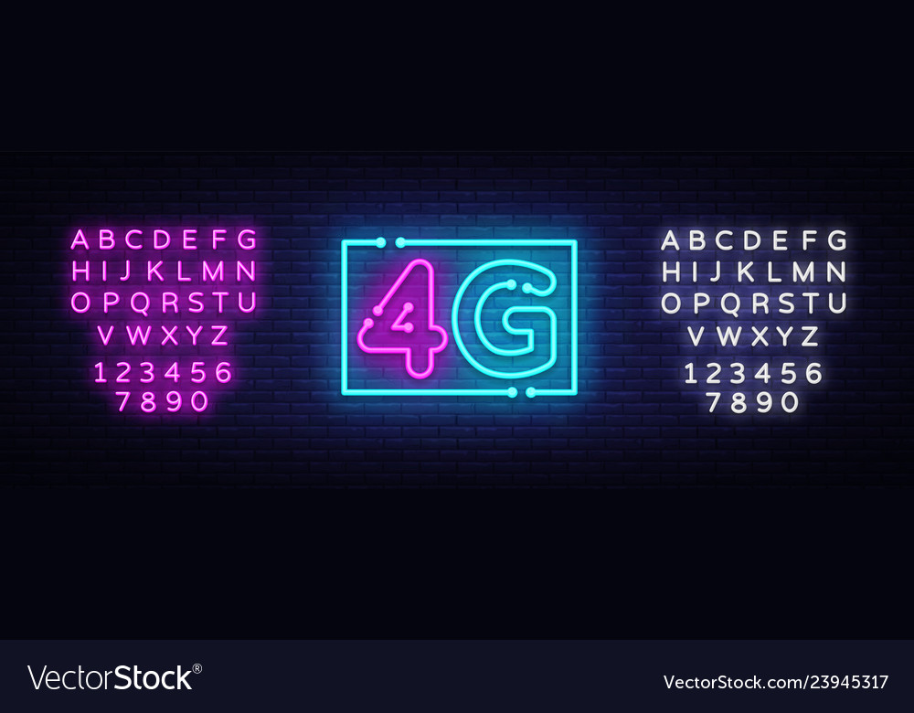 4g new wireless internet wifi connection neon sign