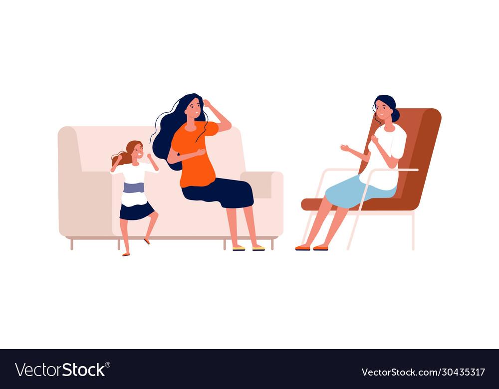 Children psychologist angry bagirl bad