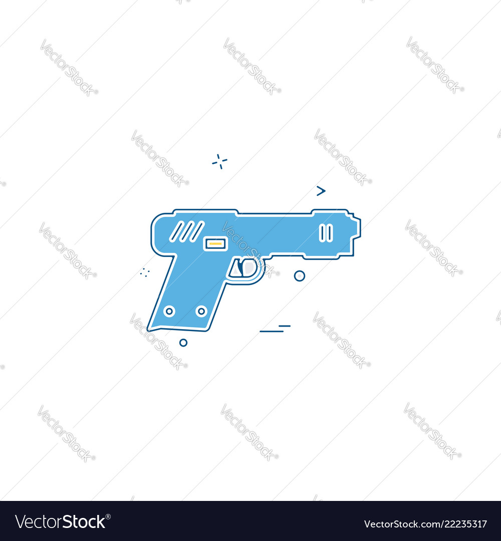 Gun pistol police weapon icon design