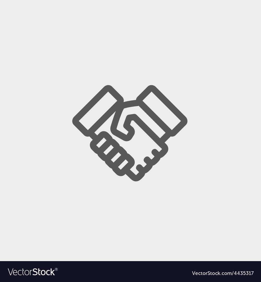 Handshake thin line icon