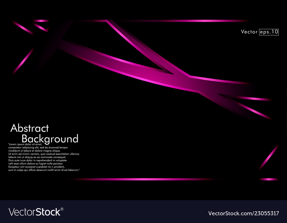 Pink ribbon wave on a black background layout