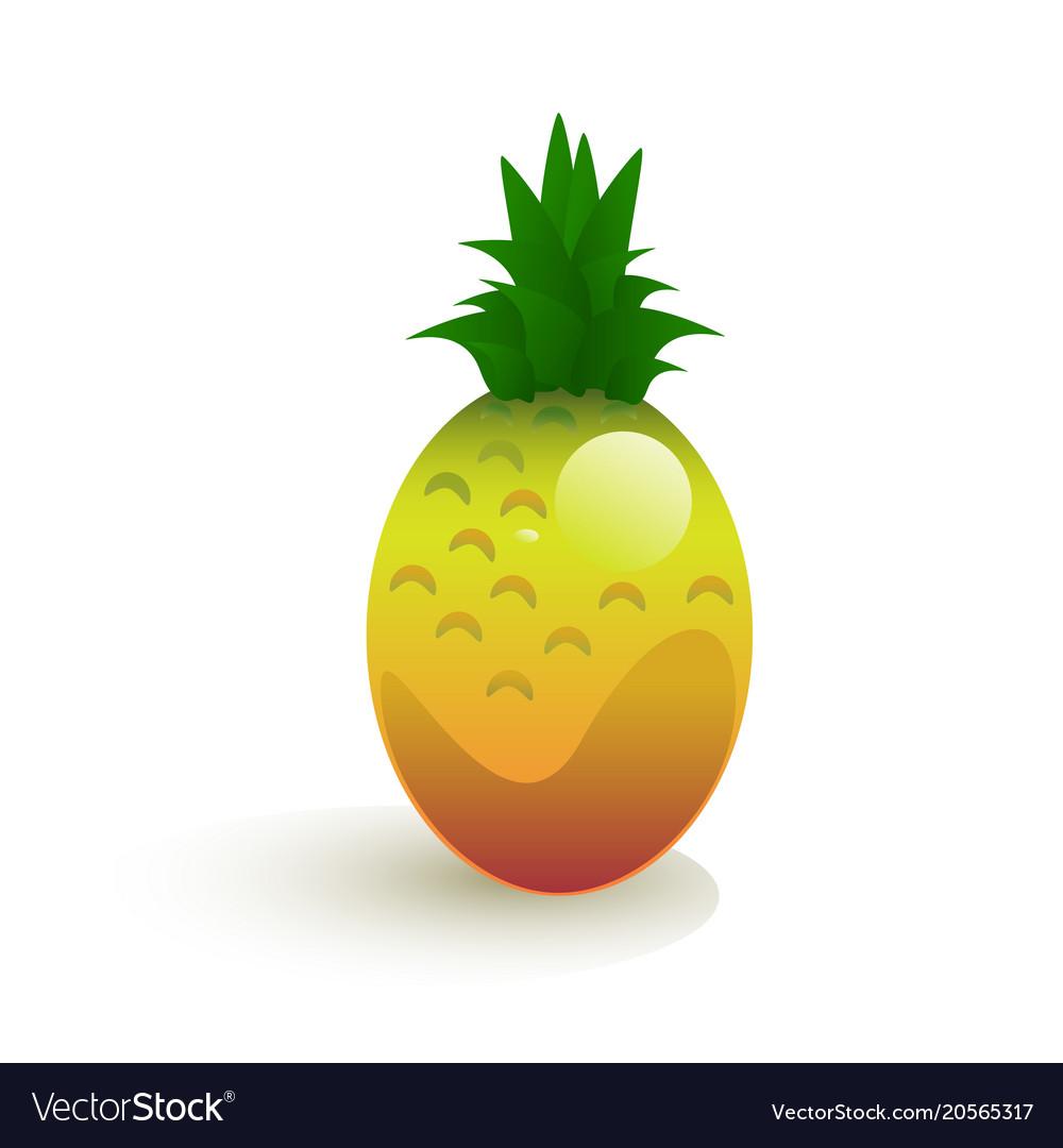 Ripe pineapple vector image
