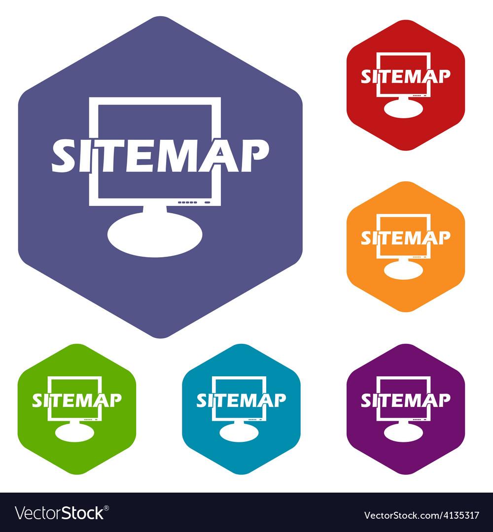 Sitemap rhombus icons