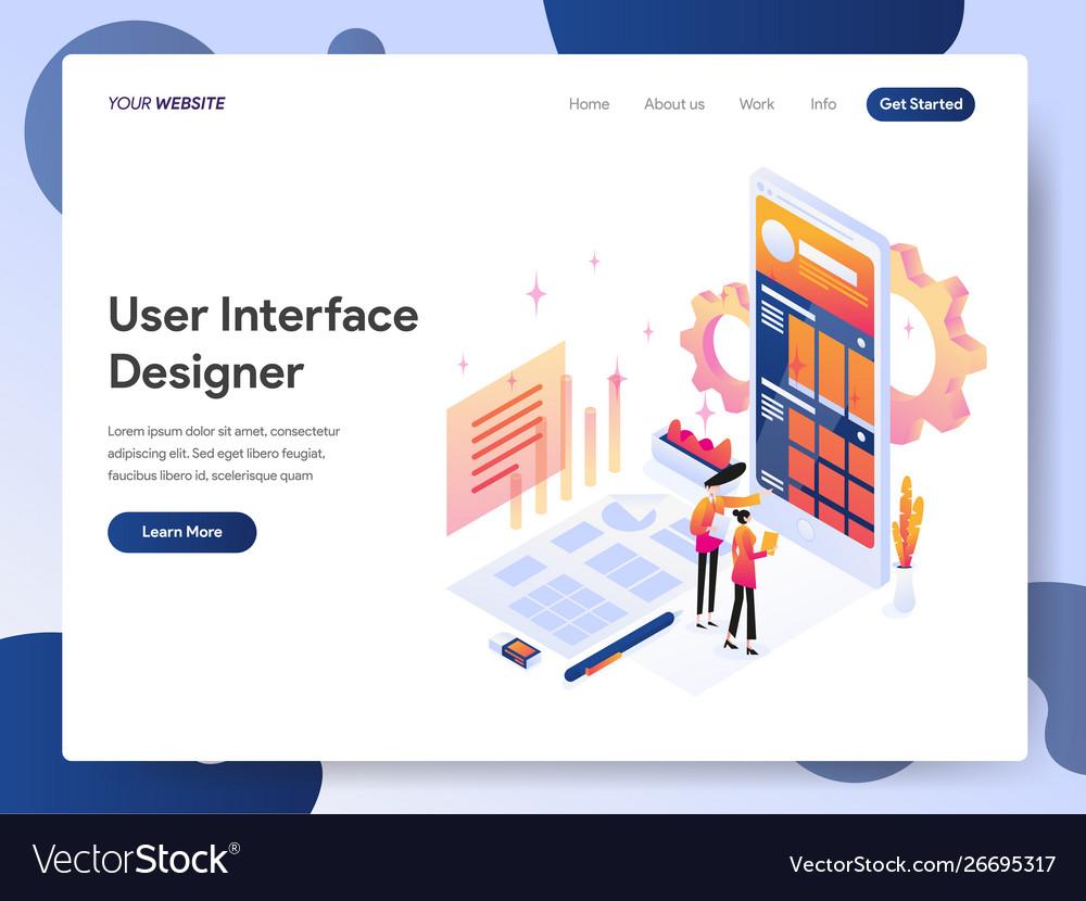 User interface designer isometric concept