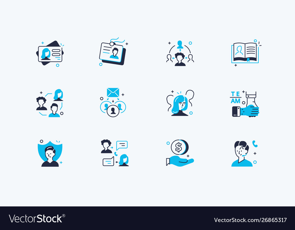 Users icons set