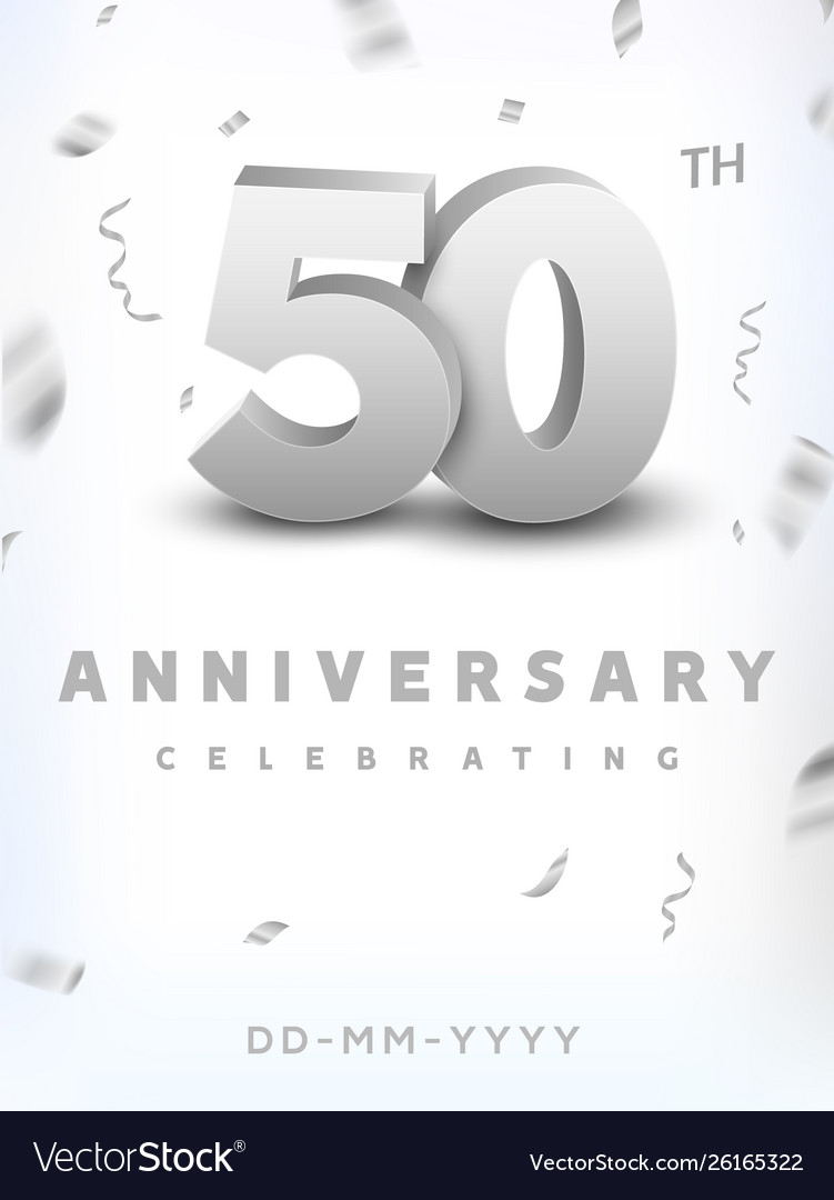 50 years silver number anniversary celebration
