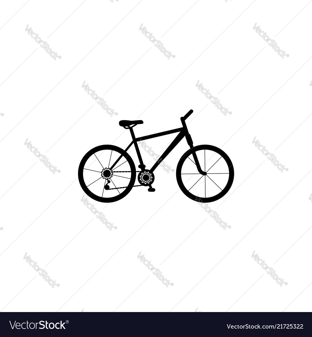 Bicycle icon of a mountain bike