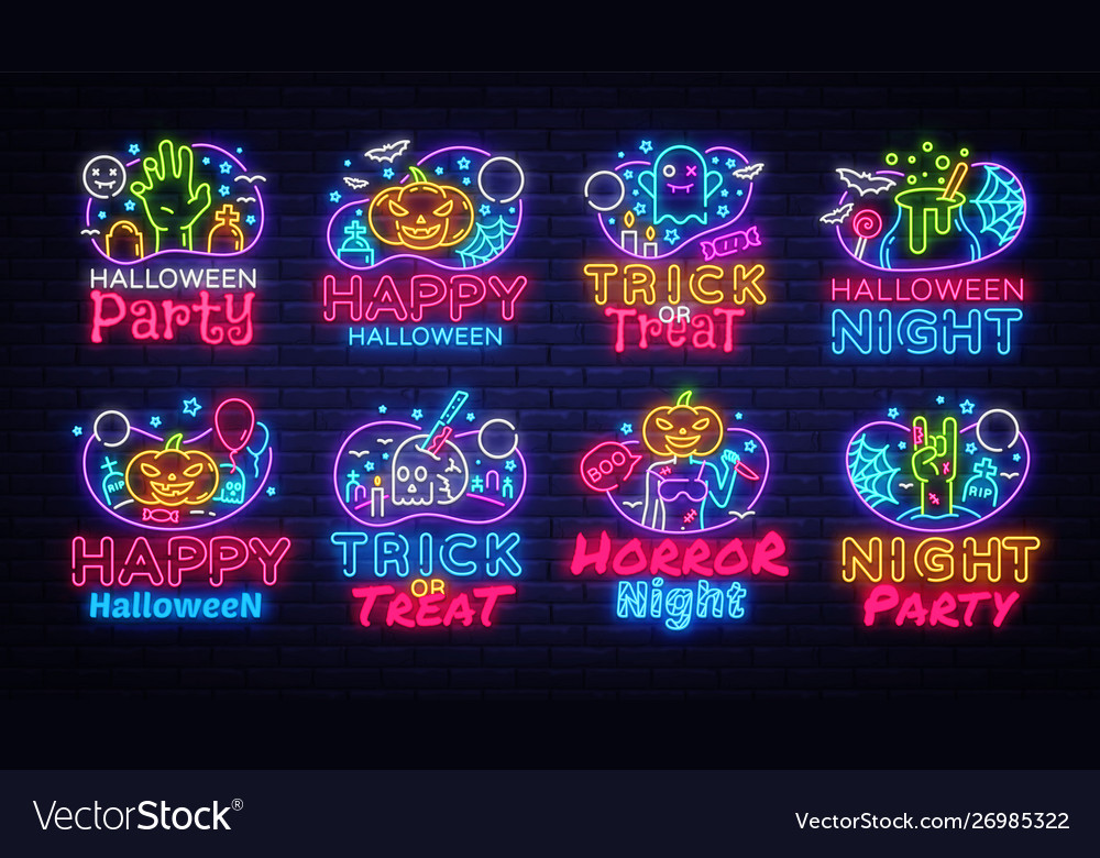 Big neon signs for halloween halloween