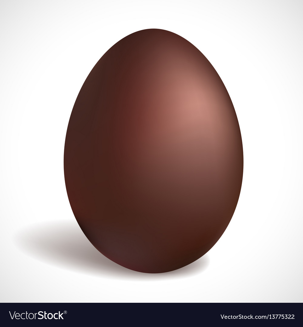 Chocolate egg happy easter concept