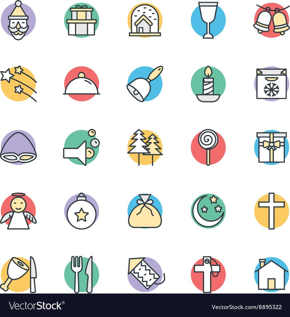Christmas Cool Icons 3 vector image