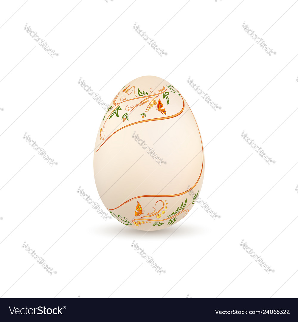 Easter egg 3d icon pastel egg isolated white