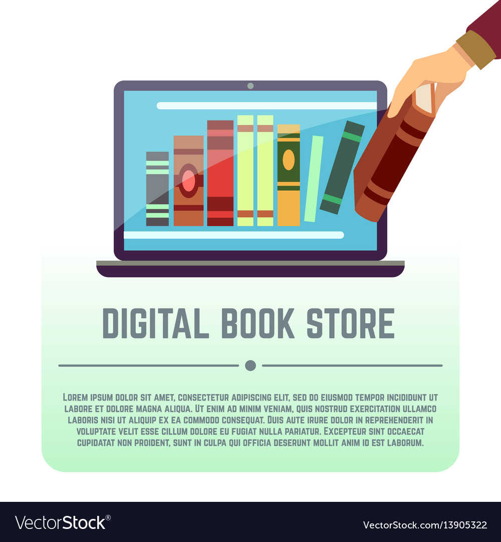 Electronic library online documents digital book