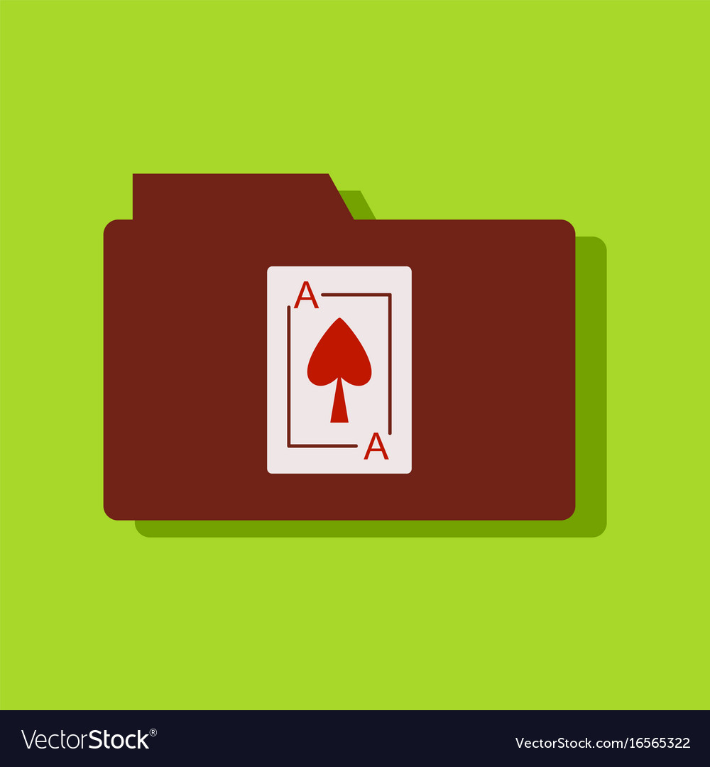 Flat icon design collection playing card on