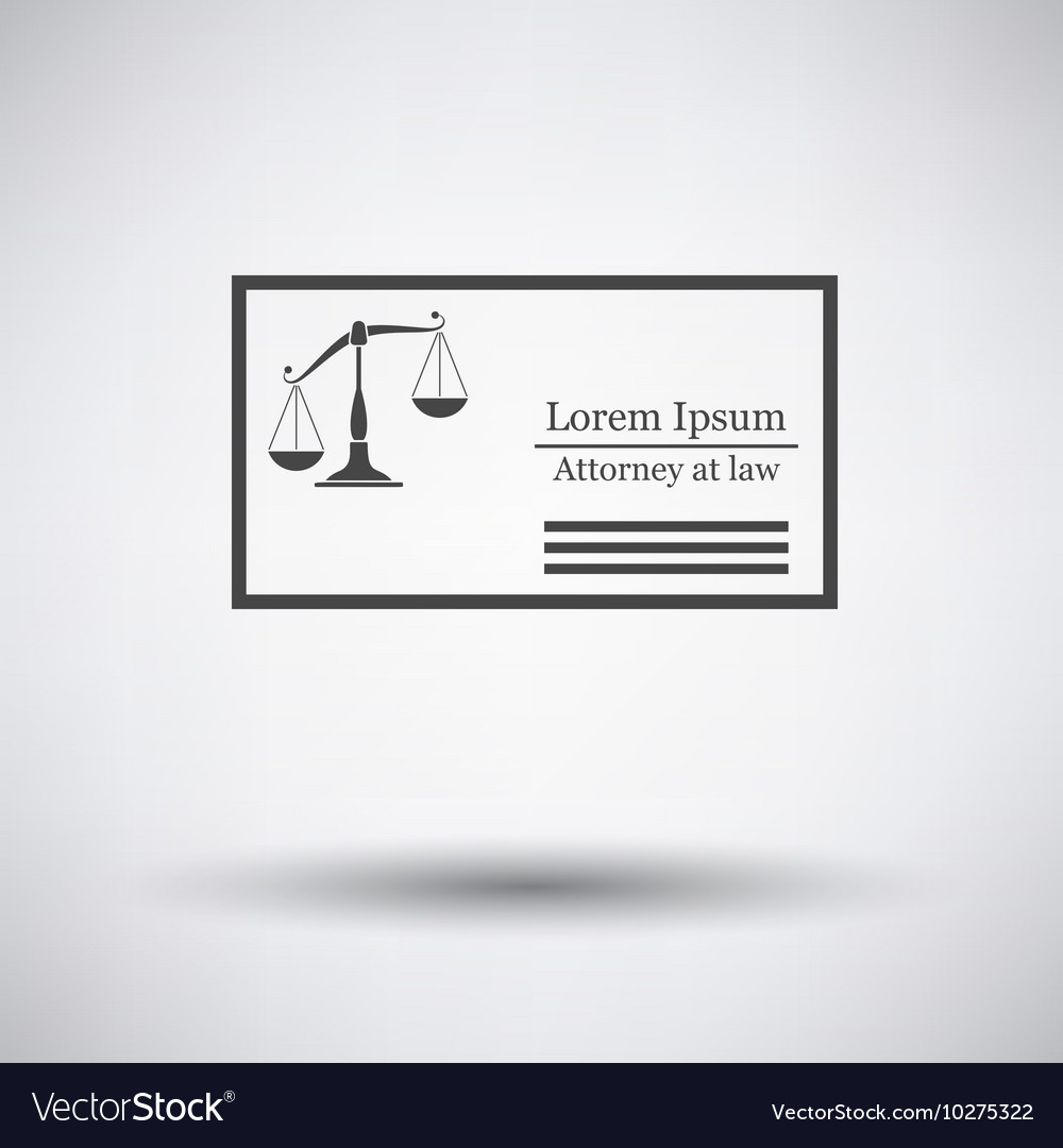 Lawyer Business Card Royalty Free Vector Image