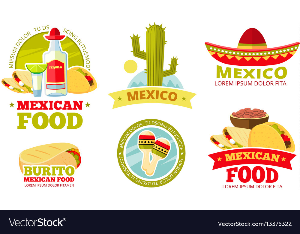 Mexican salsa food restaurant badges