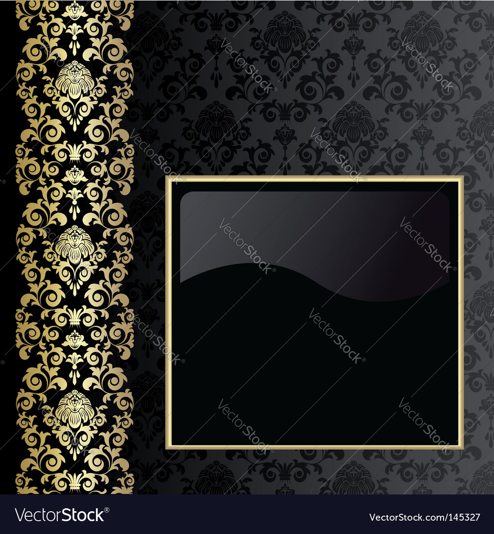 Black And Gold Background Vector. Artist: elenashow; File type: Vector EPS