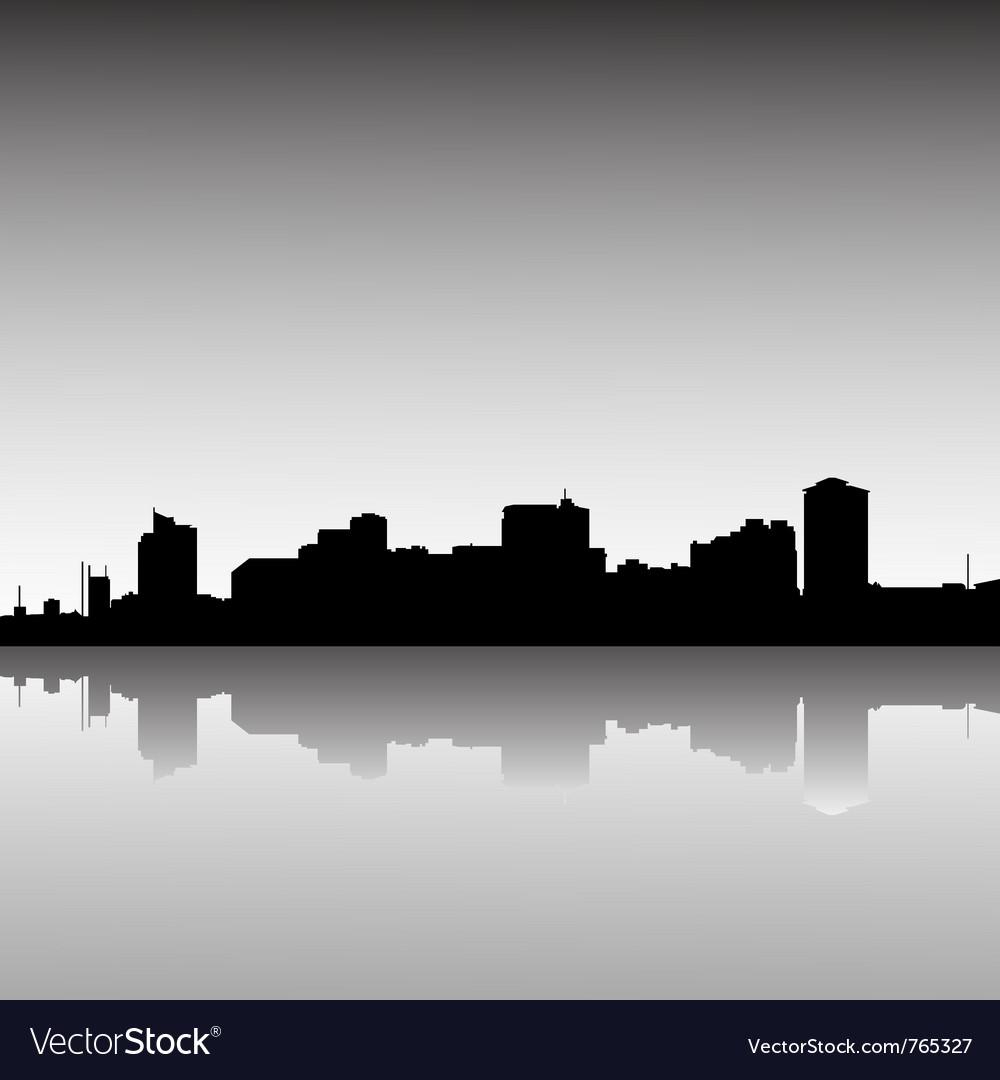 City skyline dusk