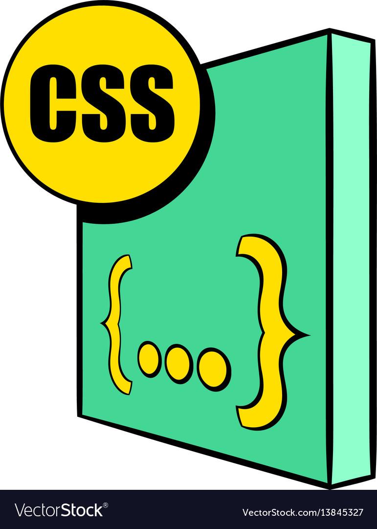 Css file icon cartoon vector image