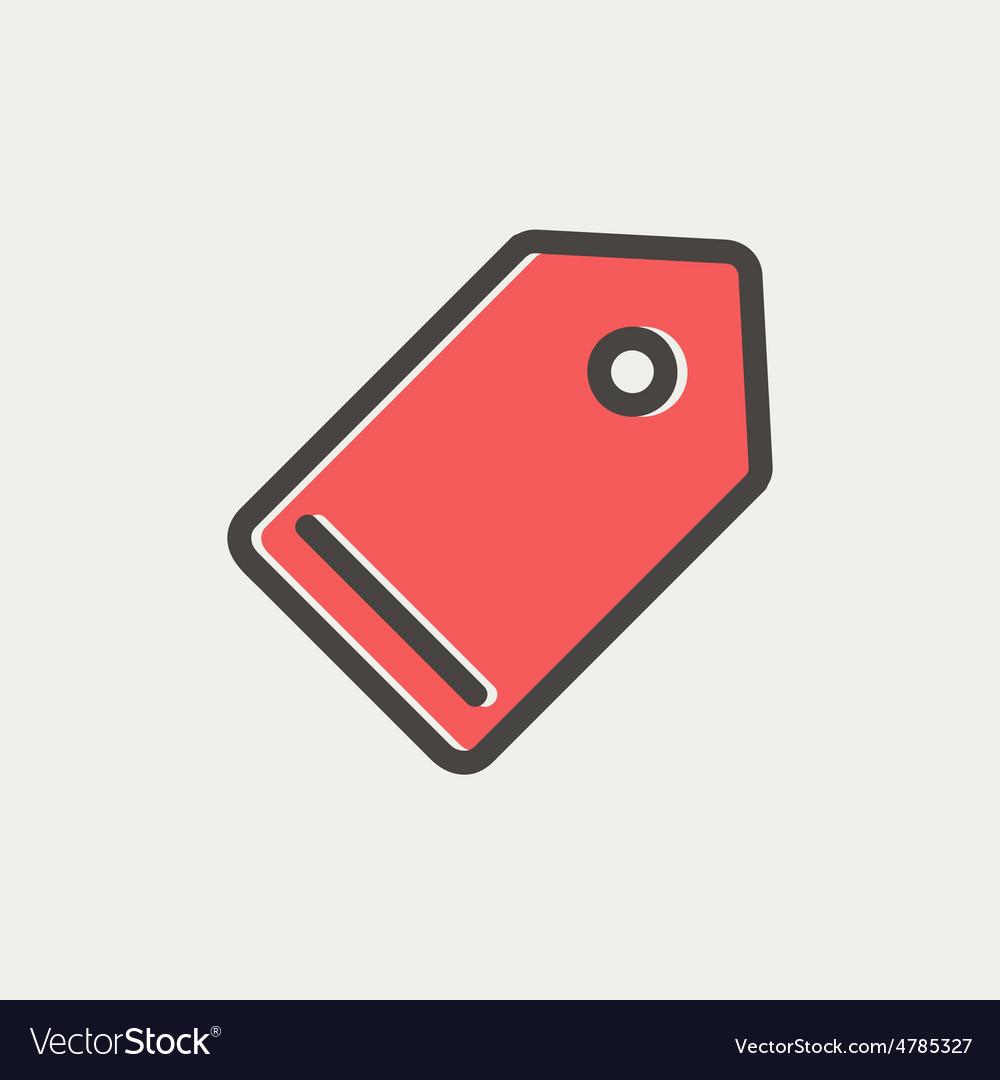 Empty tag thin line icon