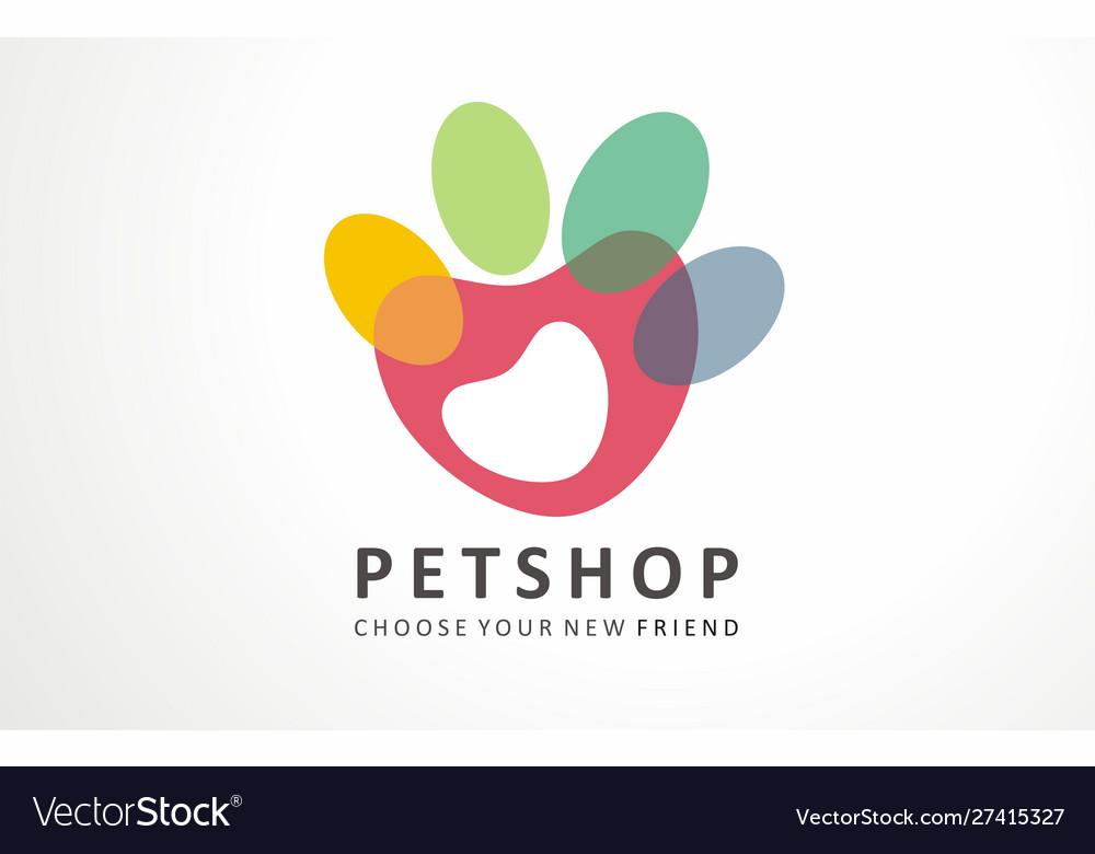 Pets hop logo dog cute friend store