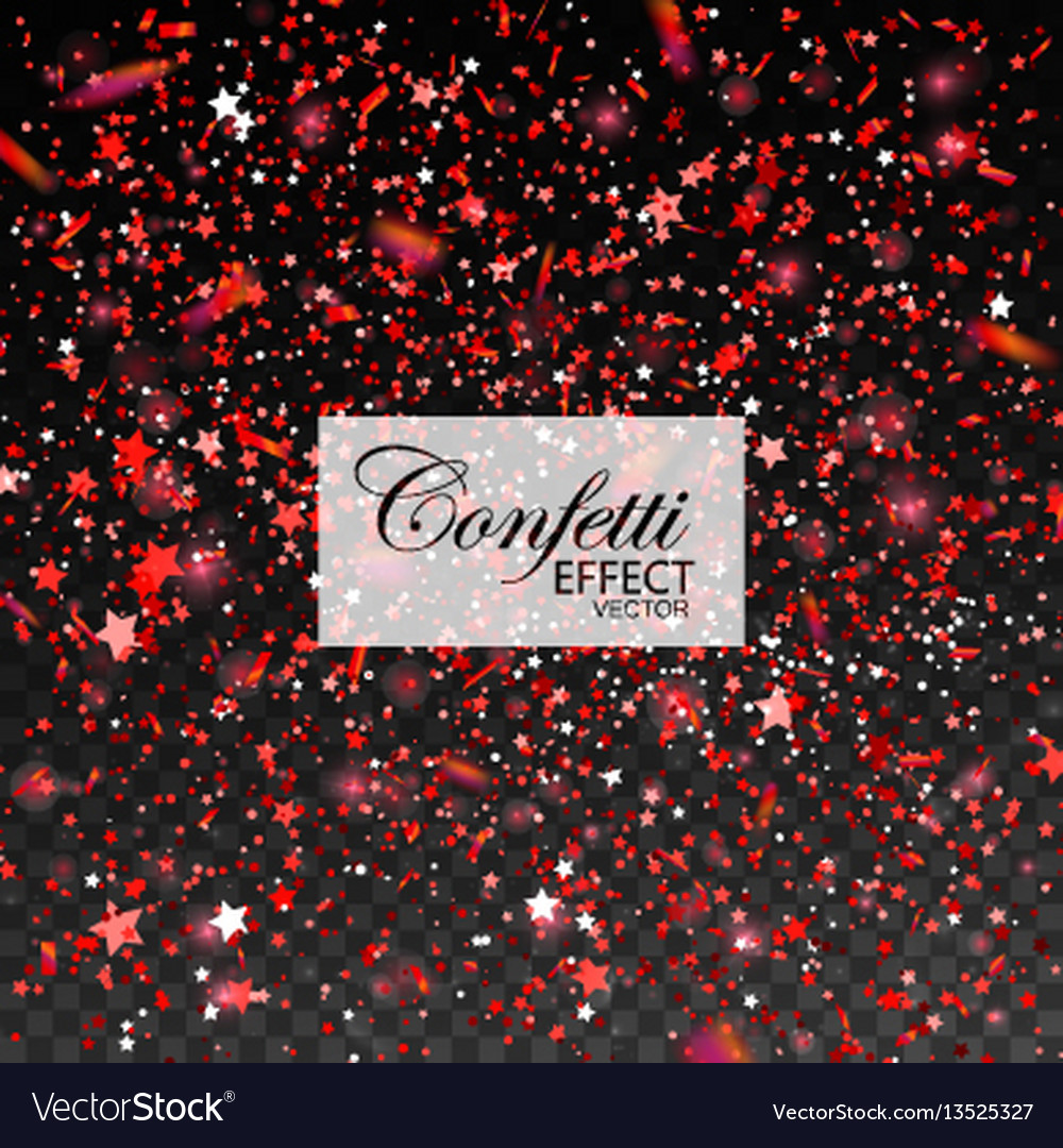Red glittering star dust