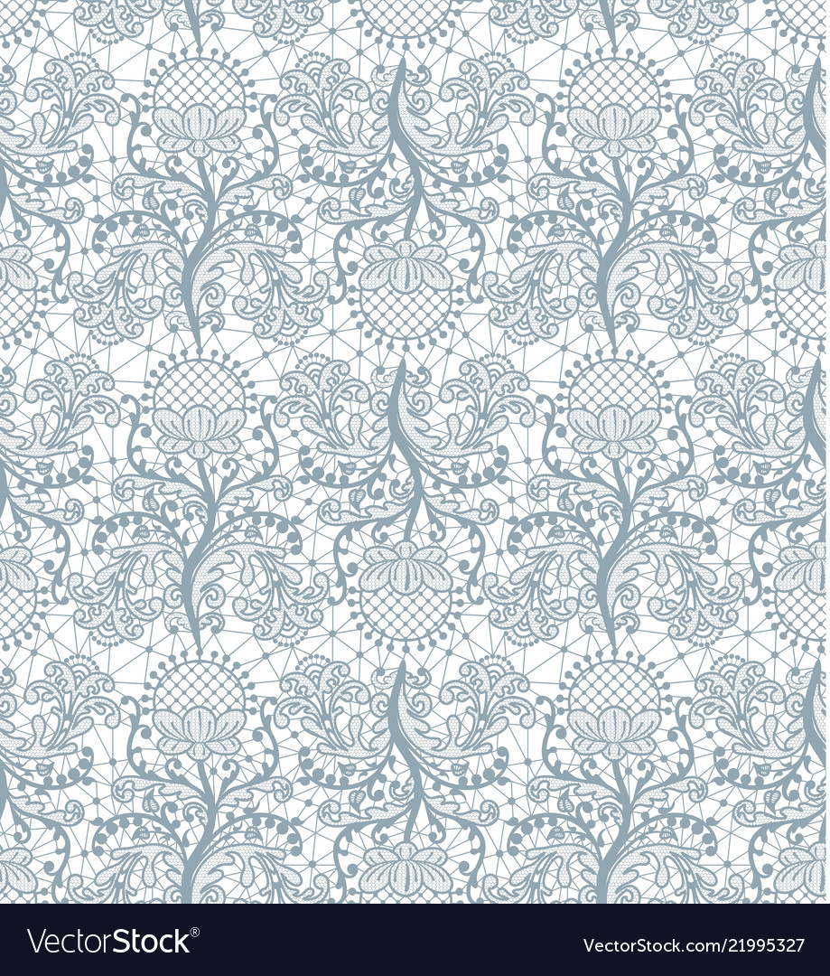 Seamless gray lace