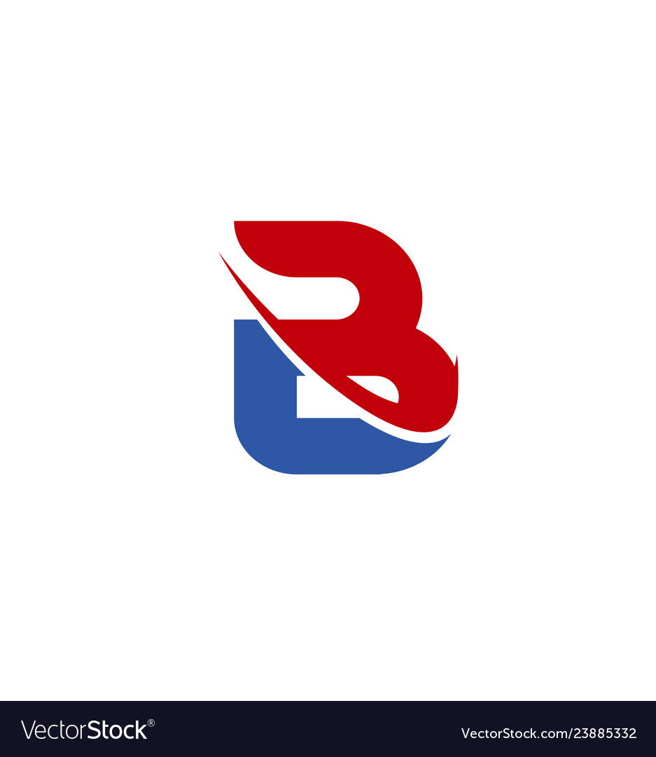 Abstract letter b logo design template