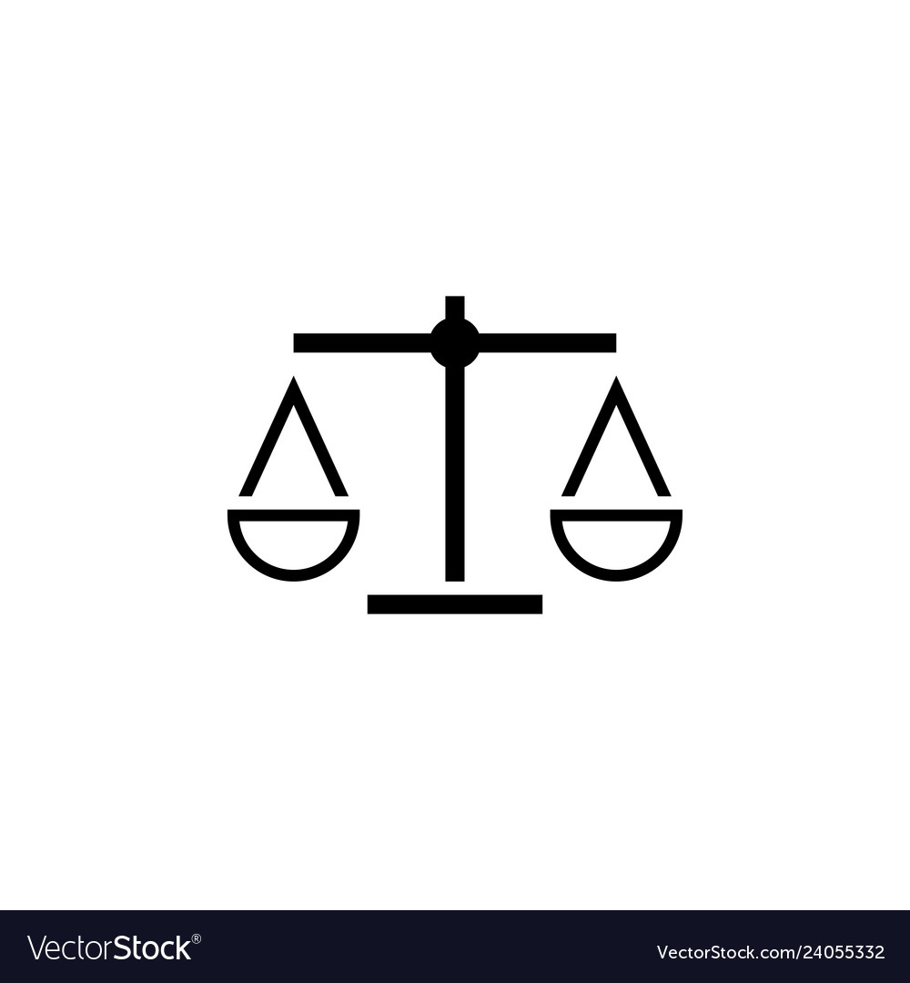 Attorney law scale icon design template