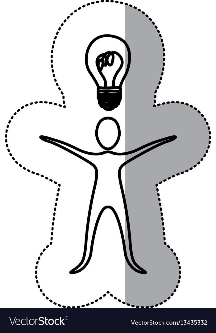 Sticker person that have a good idea icon